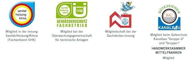 Kanalbau SHK Gewässerschutz Dachdecker-Innung Logos